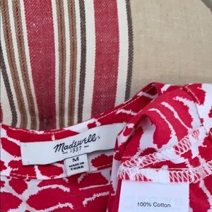 Madewell Tops - Madewell Province Top In Ikat Bloom Red